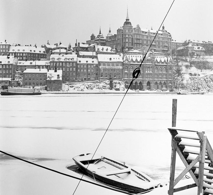 stadsdel Mariaberget med båt