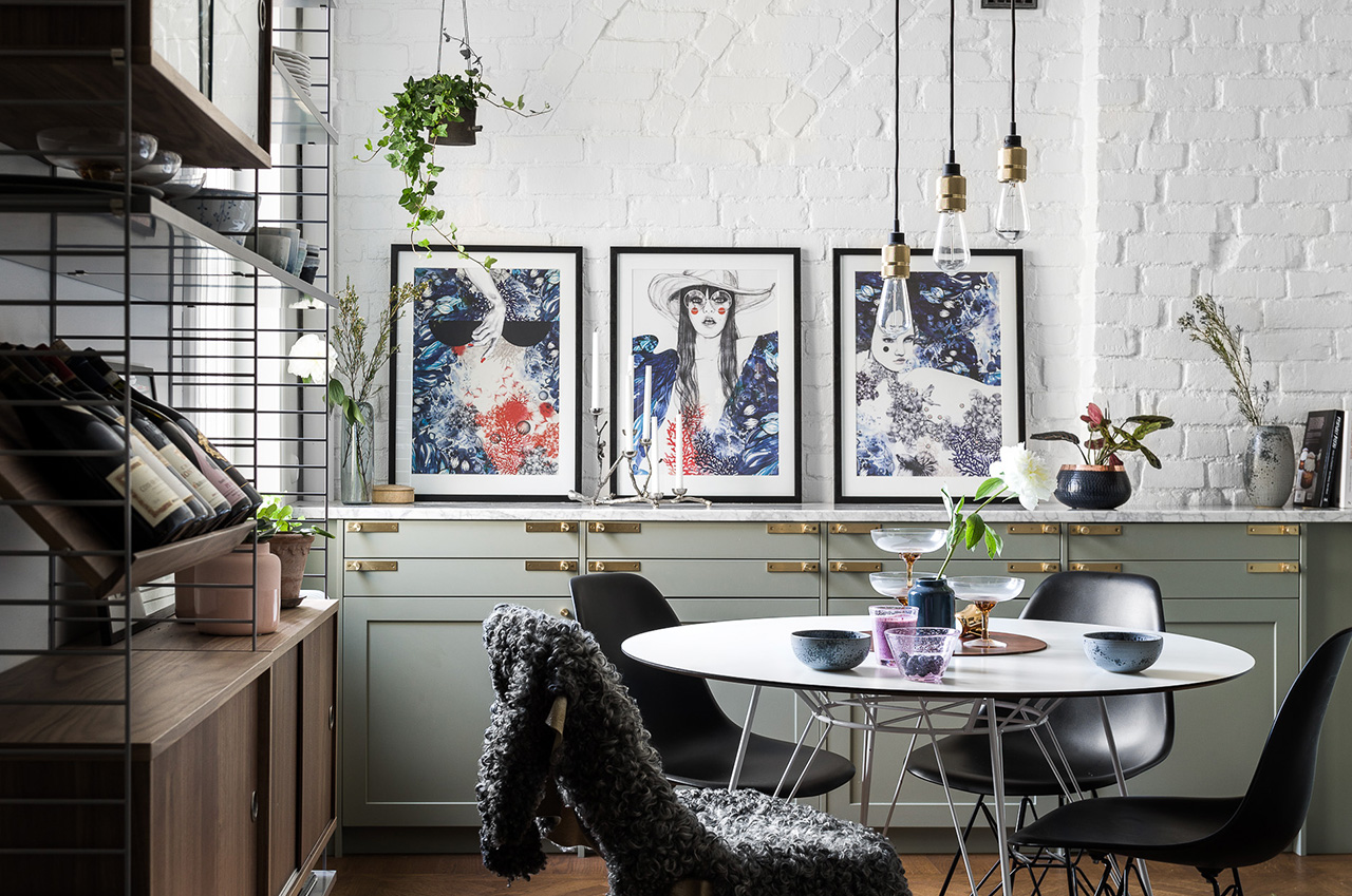 Sälj med historiska hem interiör bild