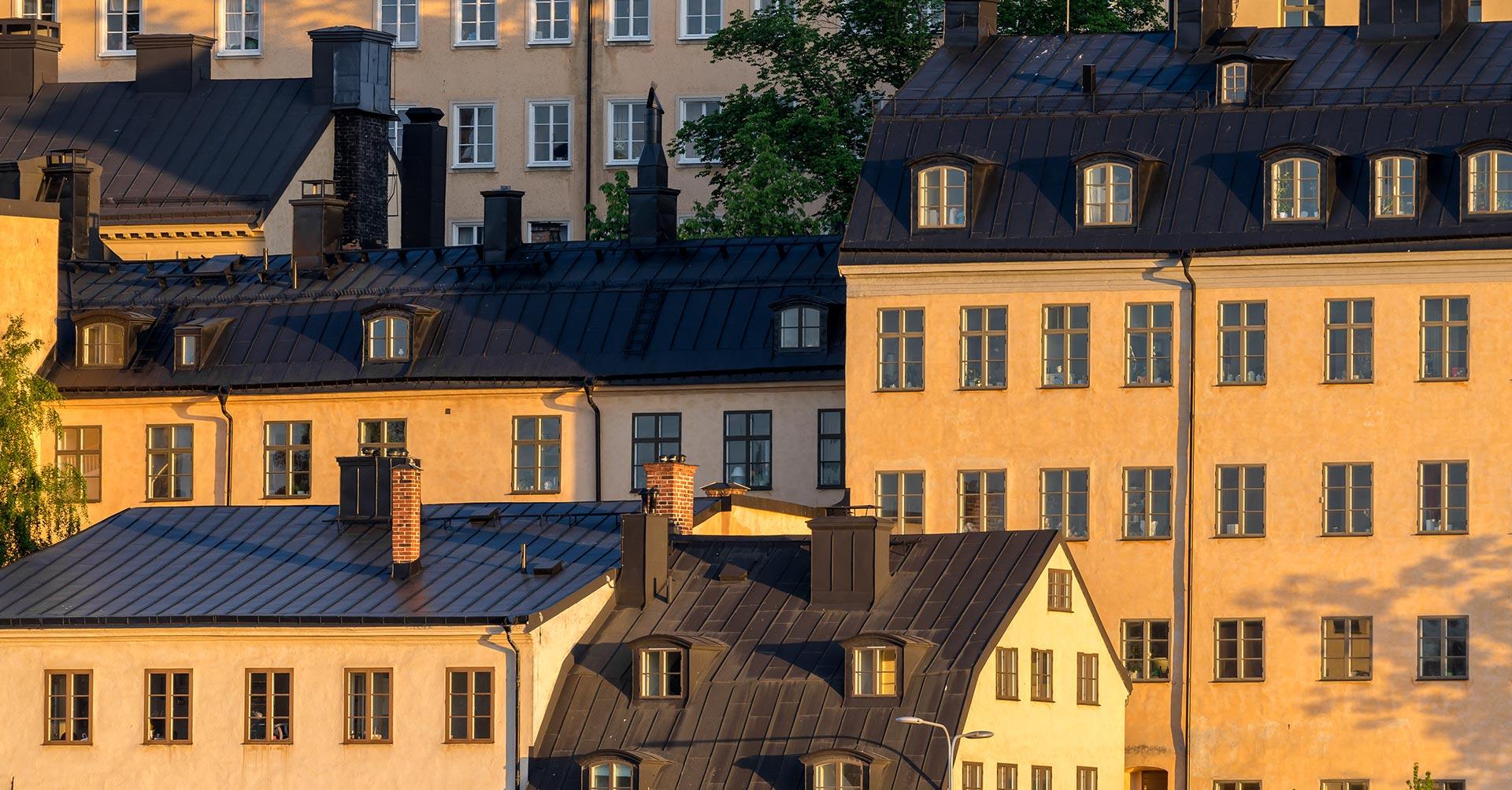 Sälj med oss stadsvy stockholm
