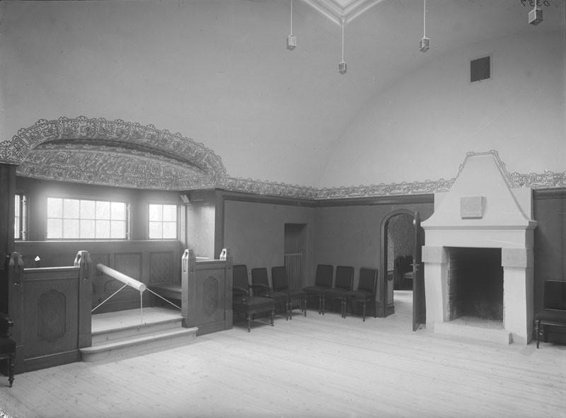 FOTOGRAFI Klara Östra kyrkogata 10. Svenska Läkaresällskapets hus, interiör.   1906-1910 FOTOGRAF: Okänd.  BILDNUMMER: D 357 Stadsmuseet i Stockholm
